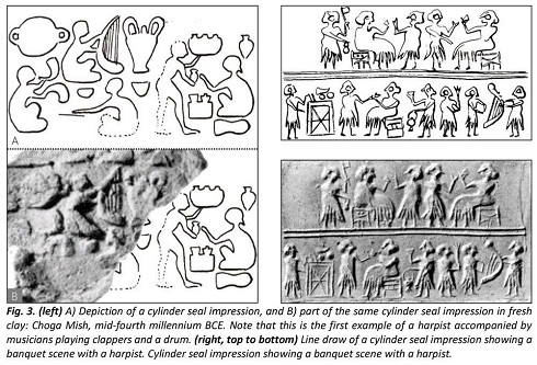 موسیقی و نوازندگی در نقوش باستانی ایرانی